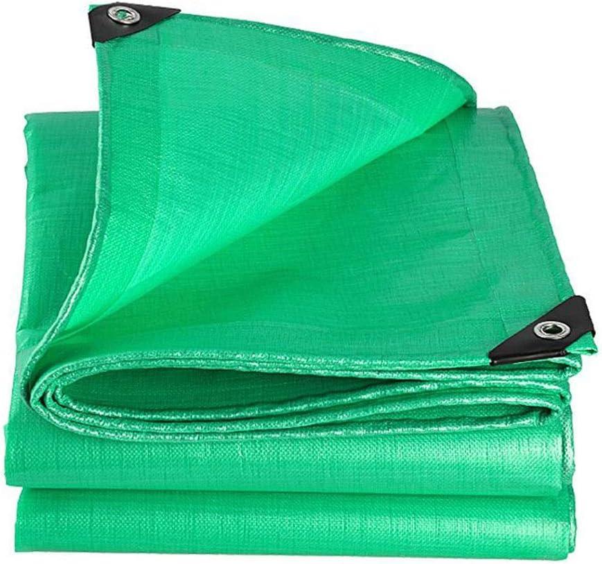 XUERUI シェルター 210g/㎡ 防水 ターポリン ヘビーデューティ 防水シート グランドシートカバー にとって ガーデン家具 車 スポーツ アウトドア (Color : 緑, Size : 5x8m) 緑 5x8m