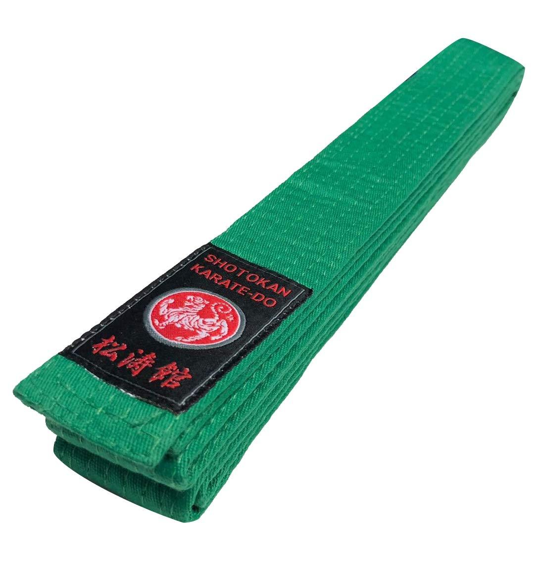 Budodrake Shotokan Karateg/ürtel Silver Edition 100/% Cotton gr/ün