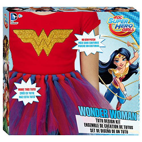 DC Superhero Girls Wonder Woman Tutu Design Kit (Twin Girl Costumes)