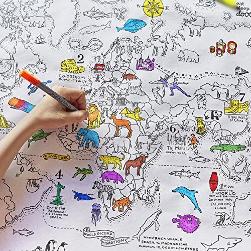 eatsleepdoodle Doodle carte du monde Wrap