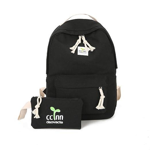 Oldeagle Boys Girls Rucksack Shoulder Bookbags School Bag Satchel Travel  Canvas Backpack (Black) 1fc56157e3