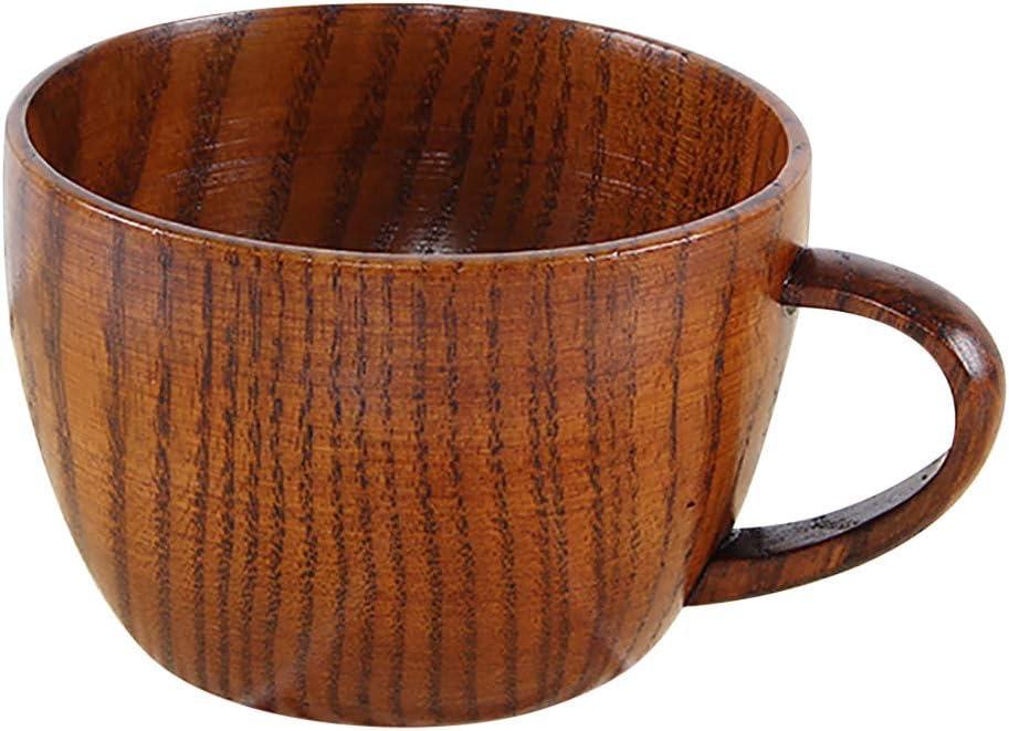 Sulifor Japanische h/ölzerne Schale kleiner handgemachter nat/ürlicher h/ölzerner Weinkaffee-Trinkbecher aus festem Holz Teetasse
