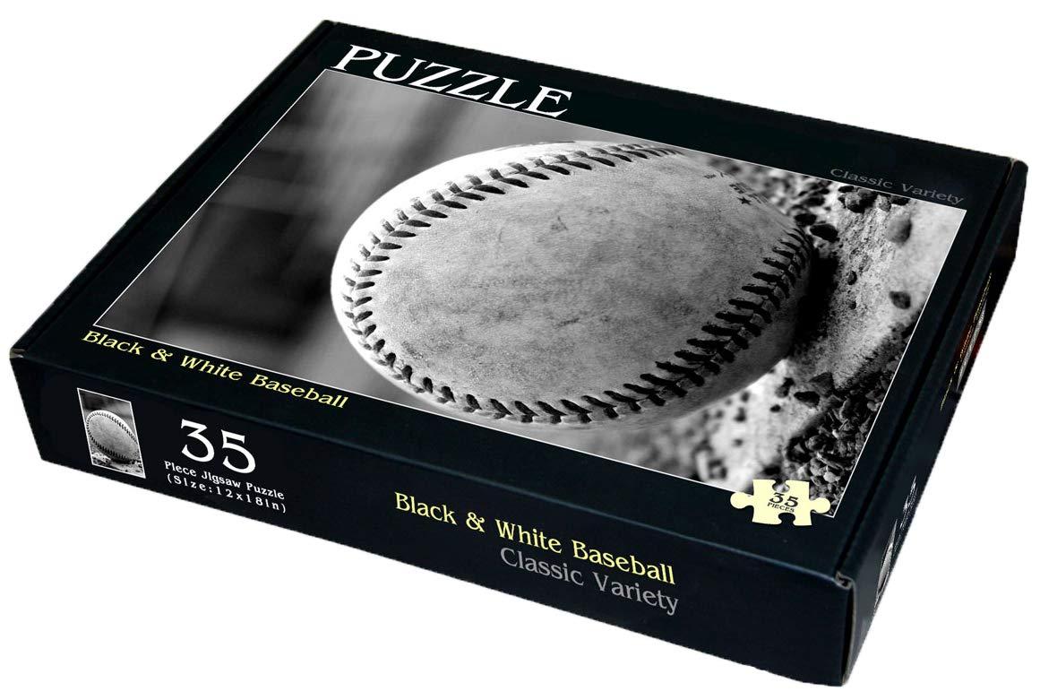 Black /& White Baseball 35 Piece Childrens Jigsaw Puzzle 12 X 18 Classic Variety