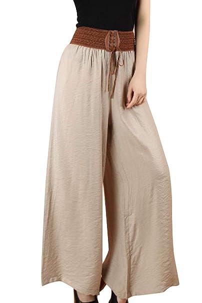 premium selection 9f300 3b538 BienBien Pantaloni Larghi Donna Vita Alta Elegante Pantalone ...