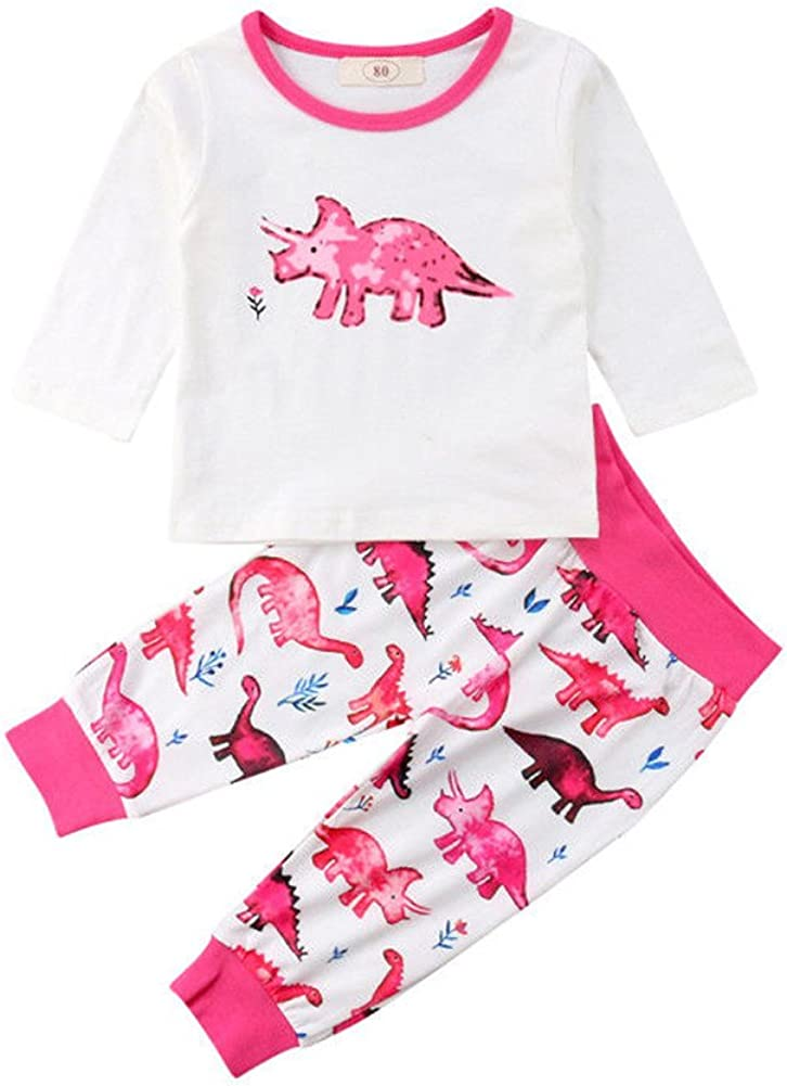 Toddler Kids Baby Girl Clothes Long Sleeve Tops Leggings Long Pants Outfits Sets
