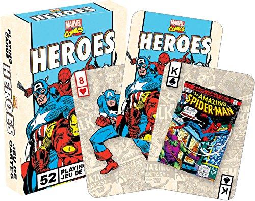 マーベルヒーローは、レトロな52トランプのセットト   (Marvel Heroes Retro cards)