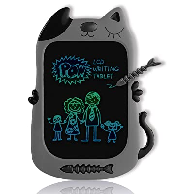 GJZZ LCD Drawing Doodle Board for 3-7 Year Old Girls Gifts,Writing and Learning Scribble Board for Little Kids - Gray Black: Office Products