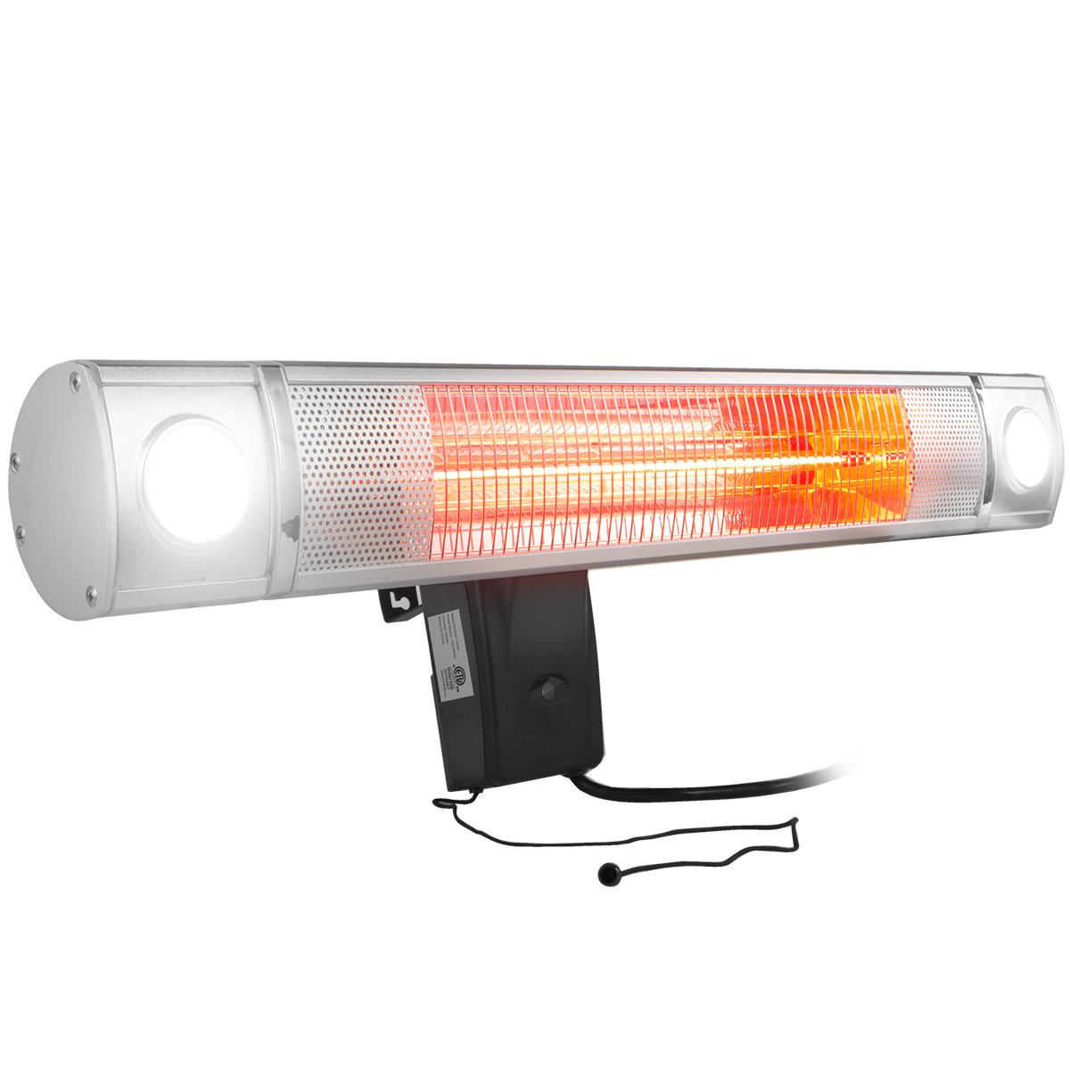XtremepowerUS Wall-mounted Infrared 1500 Watt Heater, 28'' by XtremepowerUS