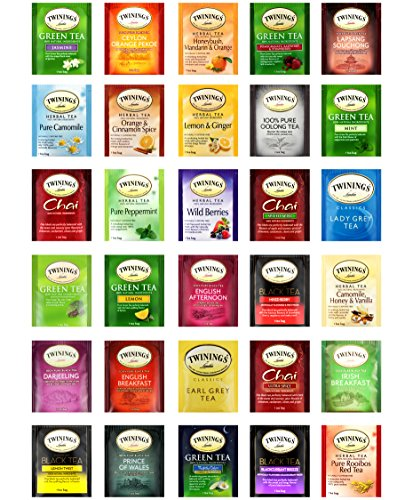 Snack Chest Twinings Tea Assortment Variety Sampler, Selection of Different Tea Flavors (90 Count)