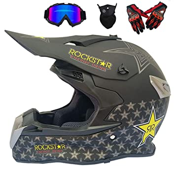 GWJ Adulto De Carretera Casco Dot Dirt Bike Motocross ATV Moto Offroad /Gafas/Máscara
