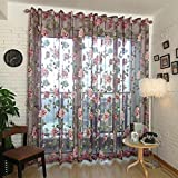 Best Norbi Curtains For Living Rooms - Norbi Decorative Floral Tulle Voile Door Window Rom Review
