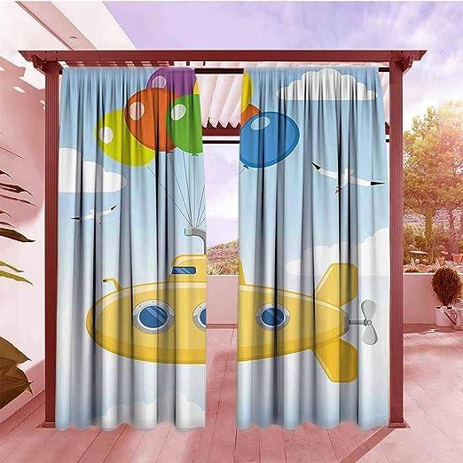 AndyTours - Cortina para Puerta corredera, diseño de Flores, Color Amarillo: Amazon.es: Jardín