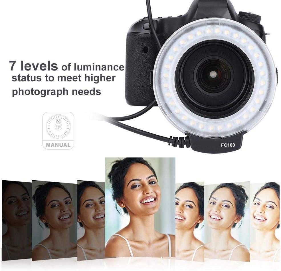 Ring Shape Photography Light Portable Universal LED Ring Flash Video Camera Fill Light Kit Photography Accessory