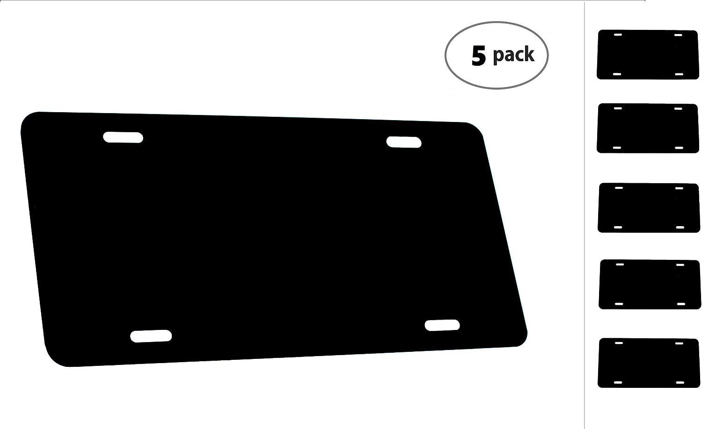 - 12x6 1mm 5 Pack-$4.99//Each Partsapiens Corp. Anodized Aluminum License Plate Blanks Heavy Gauge .040