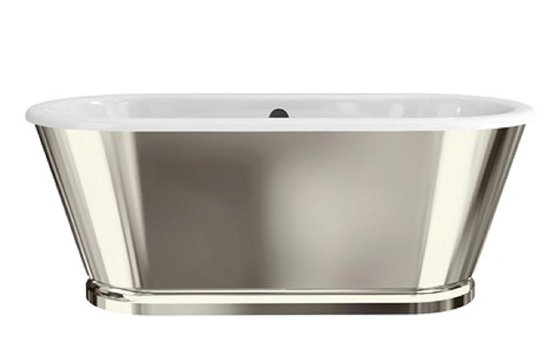 Albermarle Free Standing baño con acabado de níquel