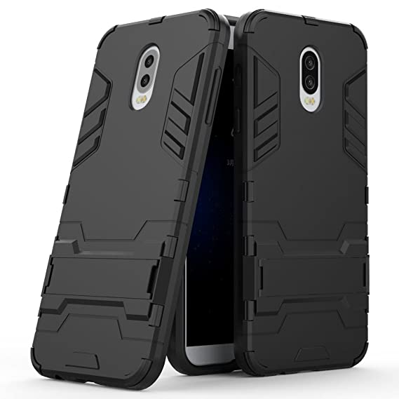 buy online 3a8e9 54cf2 Samsung Galaxy J7 Plus Case, Galaxy J7 Plus Hybrid Case, Galaxy J7+ Stand  Case, Dual Layer Shockproof Hybrid Rugged Case Hard Shell Cover with ...