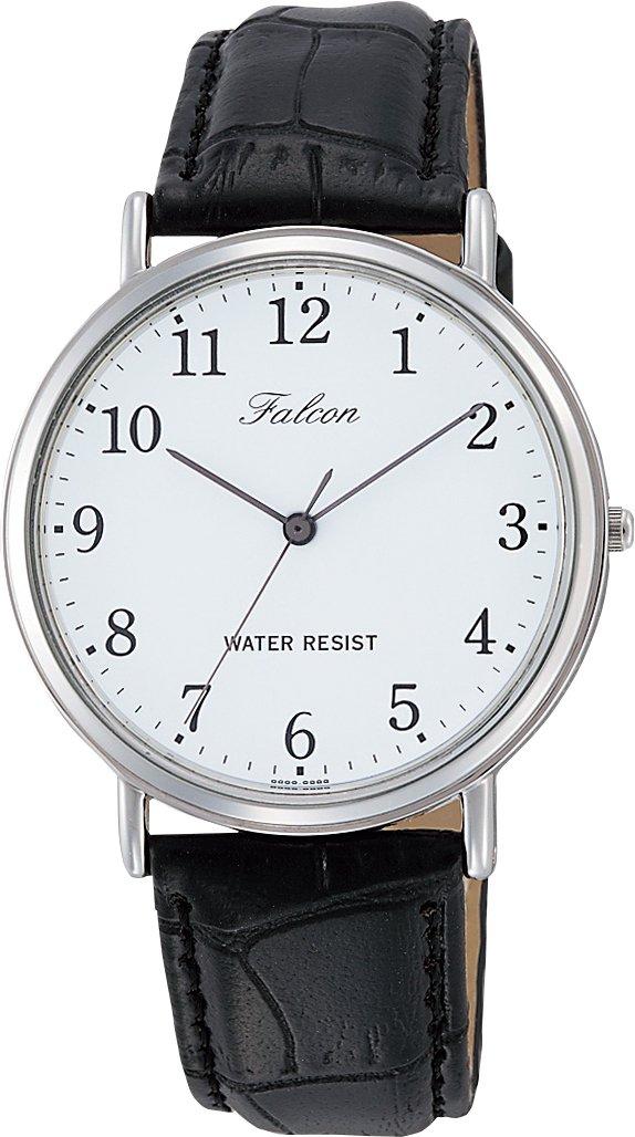 [シチズン キューアンドキュー]CITIZEN Q&Q 腕時計 アナログ falcon 日常生活防水 革ベルト メンズ
