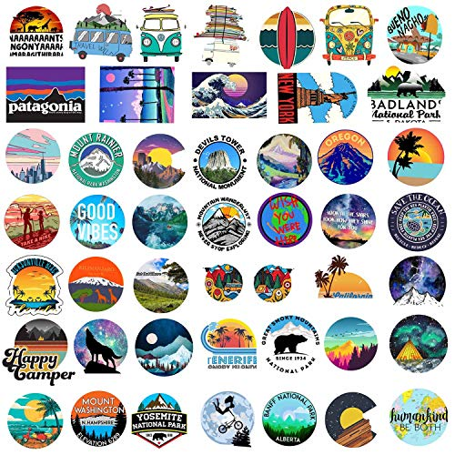 BENYU Stickers for Water Bottles 100 Pack Cute, Outdoors Trendy Stickers for Teens,Girls | Perfect for Waterbottle,Laptop,Phone,Hydro Flask Travel Vinyl Stickers Waterproof