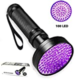 Ypres SU UV Flashlight - UV Black light Flashlights 100 LED 395 nm UV Detector Light for Dog Cat Urine, Pet Stains, Bed Bugs, Scorpions, Machinery Leaks Inspection