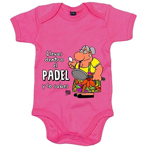 Body bebé Padel tenis Llevas dentro el padel y lo sabes - Amarillo ...