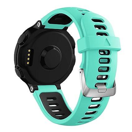 DIPOLA Correa de Reloj para Garmin Forerunner 735XT de Pulsera de Repuesto de Silicona Suave