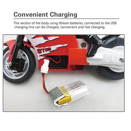 Braceus Mini RC Motorcycle High Speed Radio Controlled 2.4GHz Motorbike Children Toy (Red)
