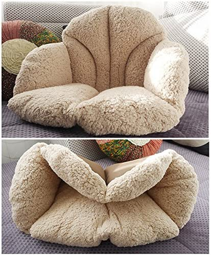 Thicker Waist Support Tatami Chair Pillow with Ties Back Sciatica Relieve for Adult and Child Chengstore Plush Seat cushion