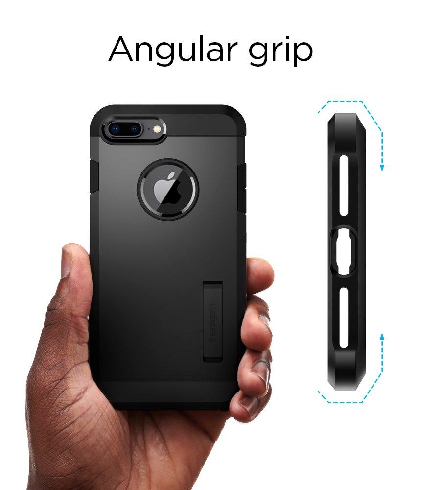 2017 // Designed for iPhone 7 Plus Case 2016 Designed for Apple iPhone 8 Plus Case 2nd Generation Spigen Tough Armor - Black