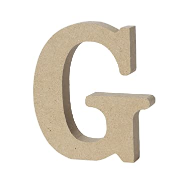WINOMO DIY Wooden Alphabet Letters Plaque Wall Numbers Home Wedding Party Decoration L