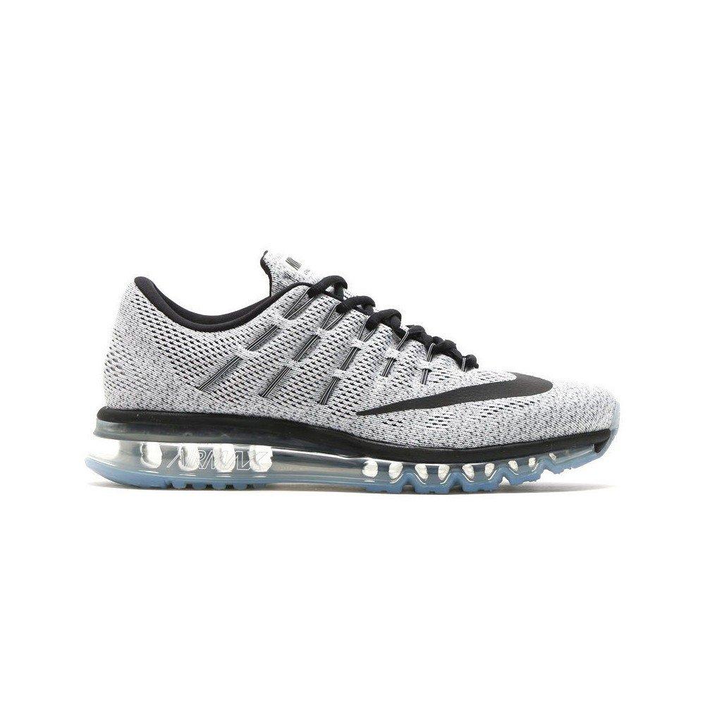 Nike Men's Air Max 2016 Running Shoe-White/Black-8