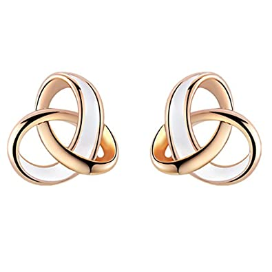 YEAHJOY Women's Elegant Rose Gold Plated Drop of Water Oil Tricyclic Earrings NF5FU9M