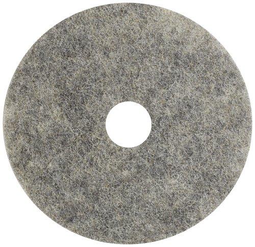 Glit 20363 TK Polyester Blend Buckaroo Natural Hair Floor Pad, Synthetic Blend Resin, 19
