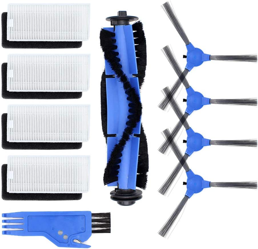 DingGreat Accessory Kit for Eufy RoboVac 11s/ RoboVac 30/ RoboVac 30C/ RoboVac 15C Robot Vacuum Cleaner Replacement Parts Pack of 1 Main Brush,4 Side Brushes,4 Hepa Filters