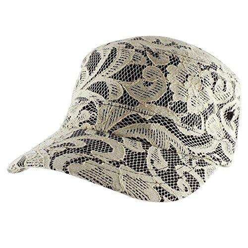 Morehats Flower Lace Overlay Baseball Cap Adjustable Hat - Black