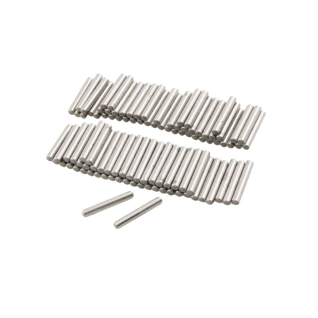 100 Pcs Stainless Steel 2.1mm x 15.8mm Dowel Pins Fasten Elements Sourcingmap a12042300ux0543