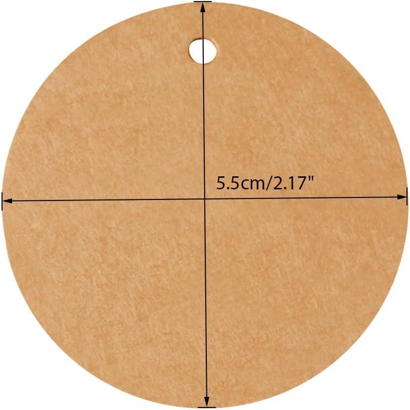 5/cm * 5/cm 100/pz etichette in carta kraft etichette regalo perfetto da appendere tag for Art /& CRAFT Project White con 30/meters di iuta spago