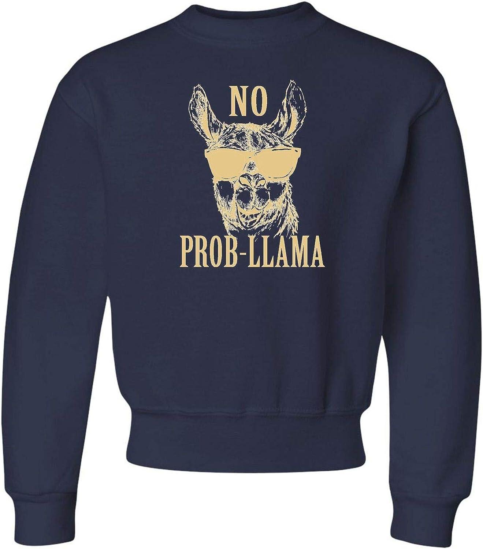 Youth No Prob-Llama Funny Llama Lovers Crewneck Sweatshirt