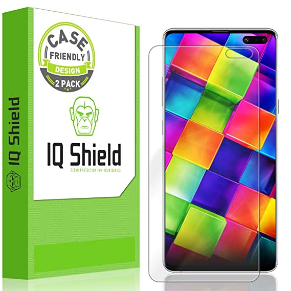 IQ Shield Screen Protector Compatible with Galaxy S10 5G 6 7 inch  (2-Pack)(Case Friendly) LiquidSkin Anti-Bubble Clear Film (NOT Compatible  with 6 1