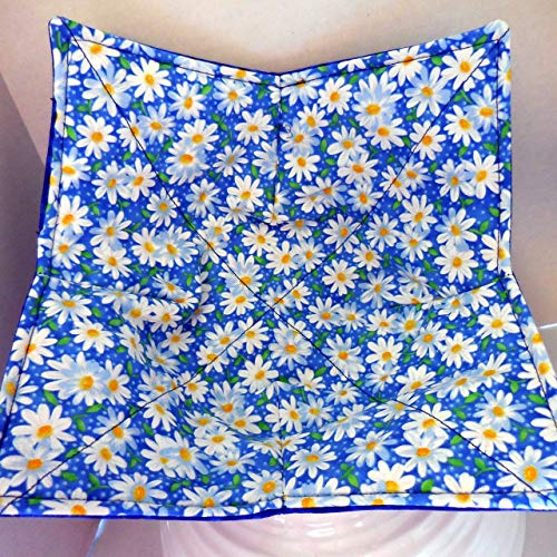 (Packed Daisy Microwave Bowl Cozy)