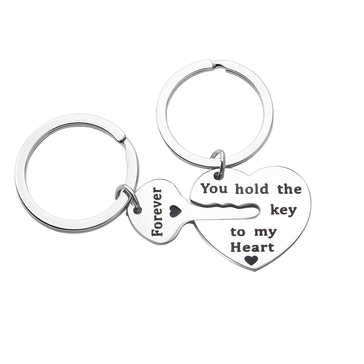 Couples Keychain Set You Hold The Key to My Heart Forever Jewelry for BBF KUIYAI