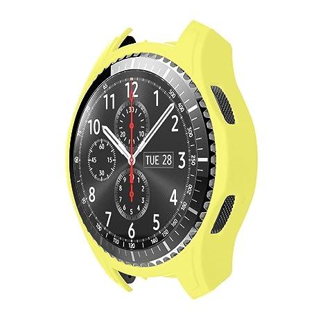 STRIR Carcasa para Smartwatch Gear,a Prueba de Golpes y Suciedad, para Smartwatch Samsung Gear S3 Frontier (Amarillo)