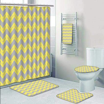 Amazon.com: 5 Piece Bath Rug Set,Zag Pattern with Tribal ... on set sofa designs, set bathroom accessories, set bathroom christmas, set bedroom,