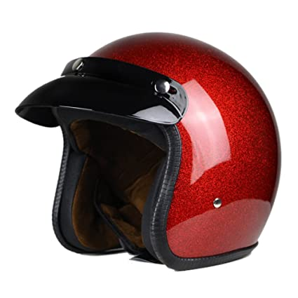 Racing Motorcycle Helmet Half Open Face Cascos Retro Hombres Mujeres Vintage Jet Casco,6-
