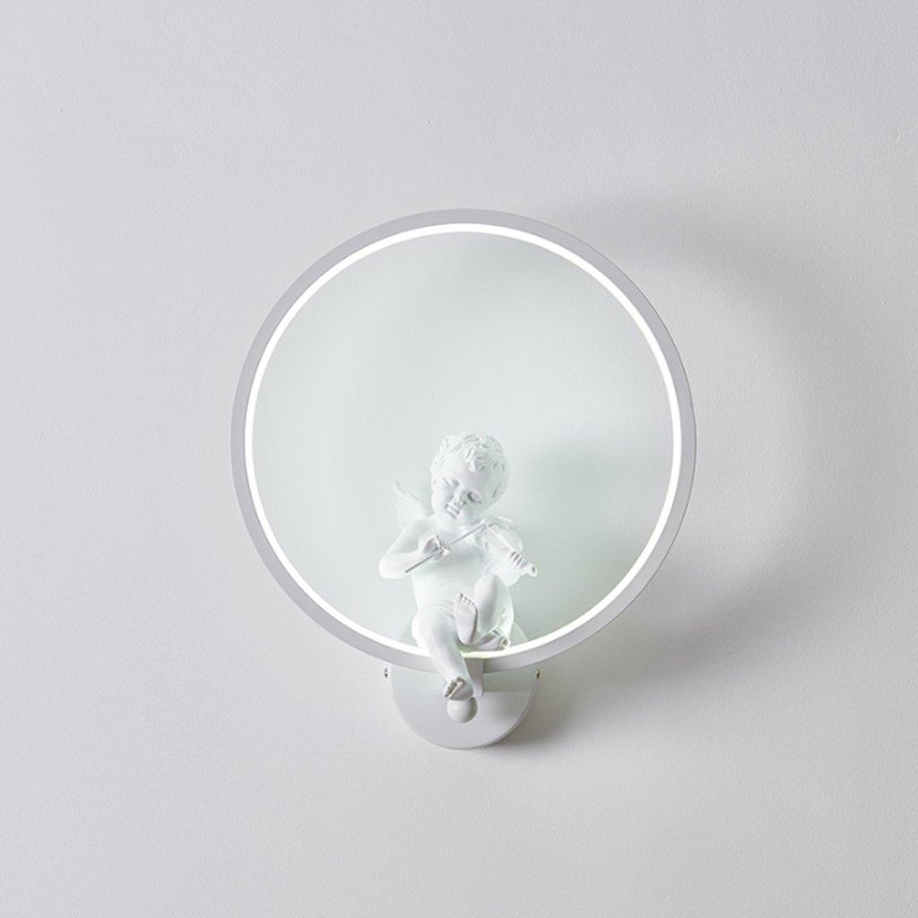 TangMengYun 現代のシンプルなLEDウォールランプ、創造的な天使のための壁ライトベッドルームのベッドサイドランプリビングルームの研究回廊の階段、壁Sconce省エネ循環ファッション - 3色のライト (Color : White, サイズ : 30*35CM) B07KPGX3Z9 White 30*35CM