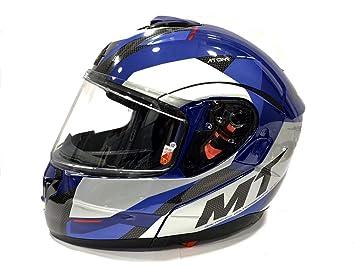 Qtech MODULAR Flip-Up Motorcycle Helmet with Double Visor Gloss BLACK Small 55-56cm