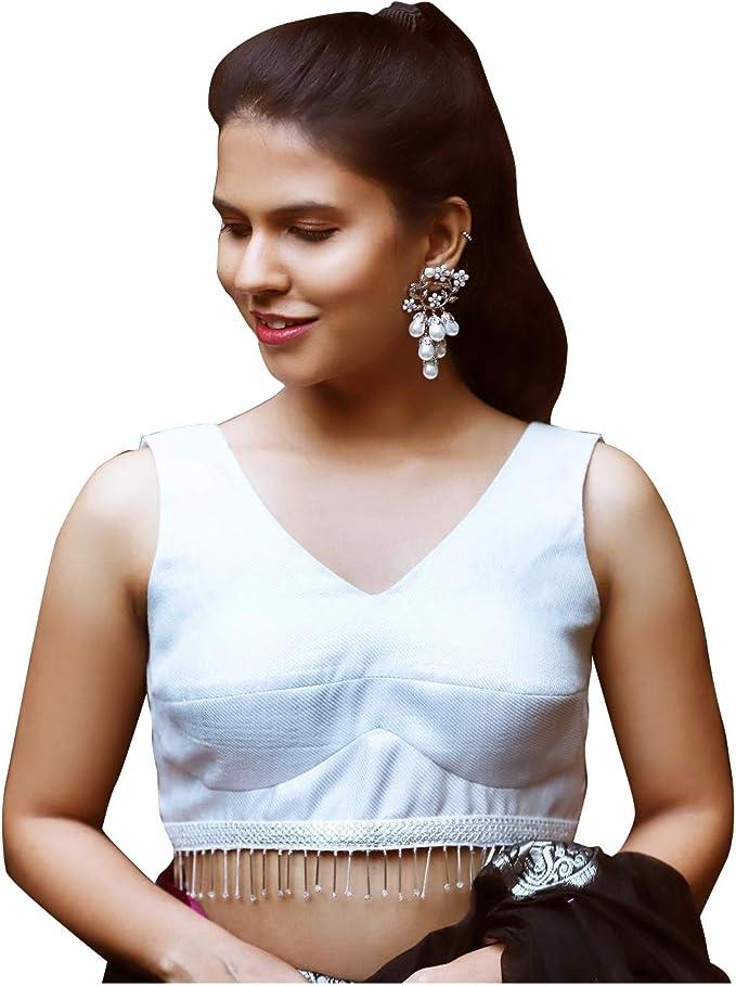 Indian Blouse for saree lehenga blouse for women Padded Sleeveless Blouse Sari Blouse Indian Blouse Readymade Blouse Saree Blouse