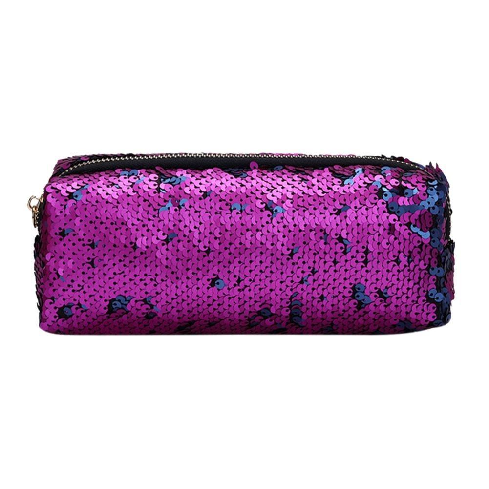 Everpert glitter paillettes donne/uomini Cosmetics clutch Pencil Case borse trucco sacchetto