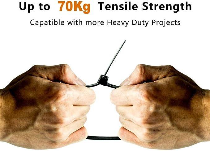 500 Fascette per cavi 370 x 3,5 professionale industria qualità resistente ai raggi UV BIANCO MERCE NUOVA