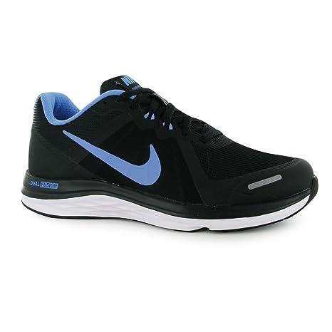 Nike Dual Fusion x2 Scarpe da Corsa Donna Nero/Blu Fitness ...