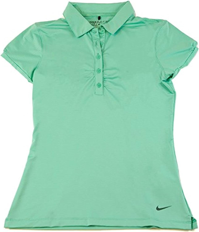 Polo de golf Nike para mujer Dri-Fit Mini Stripe Emerald Green X ...